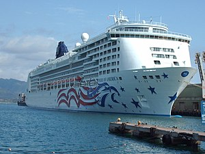 A picture of the cruise ship MS Pride of America
