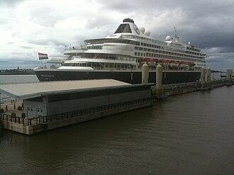 Liverpool Cruise Terminal - Image: MS Prinsendam Liverpool