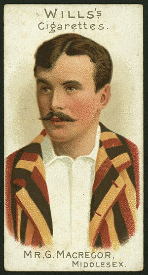 Gregor MacGregor (sportsman) - Wills Cigarette Card of Gregor MacGregor, part of the 1901 Cricketers series