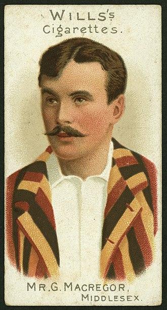 Gregor MacGregor (sportsman) - Wills Cigarette Card of Gregor MacGregor, part of the 1901 Cricketers series