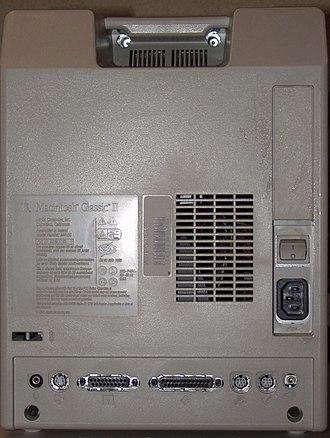 Macintosh Classic II - Image: Macintosh Classic II Rear View