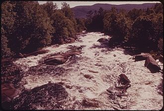 Magalloway River - Magalloway River below Aziscohos Dam in western Maine