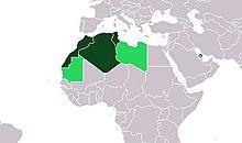 Länder die zum Maghreb gezählt werden