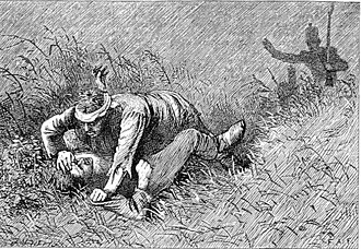 Compeyson - Magwitch and Compeyson struggling, by F.A. Fraser, c. 1877