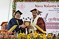 Mahesh Sharma being presented a memento at the 3rd Convocation Ceremony of Nava Nalanda Mahavihara, at Nalanda, Bihar.jpg