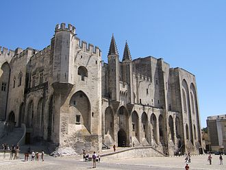 Palais des Papes - The façade of the palais neuf