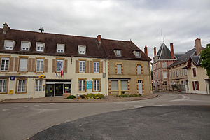 Beaulon - The town hall and museum in Beaulon