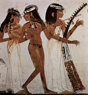 Music technology (mechanical) - Musicians of Amun, 18th Dynasty (c. 1543–1292 BC)