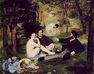 The Luncheon on the Grass (Le déjeuner sur l'herbe). 1863.