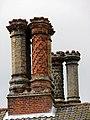Mannington Hall - Tudor chimney stacks - geograph.org.uk - 878943.jpg