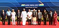 Manohar Parrikar, the Union Minister for Civil Aviation, Shri Ashok Gajapathi Raju Pusapati, the Minister of State for Civil Aviation, Shri Jayant Sinha, the Minister of State for Defence, Shri Subhash Ramrao Bhamre.jpg