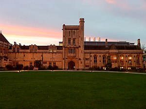 Mansfield College, Oxford - The main building of Mansfield College. The Department of Chemistry can be seen in the background.