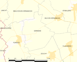 Mapa obce Germaine