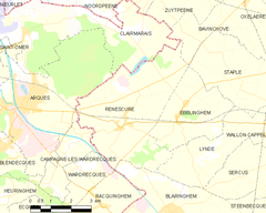 Map commune FR insee code 59497.png
