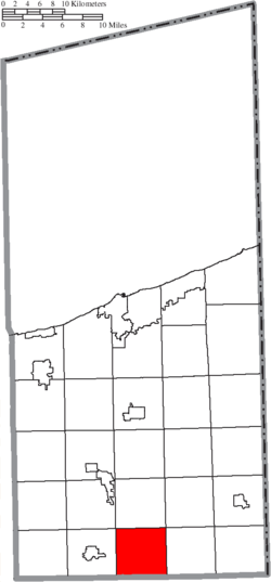 Location of Colebrook Township in Ashtabula County