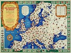 Map of Europe, 1946 (25289557032).jpg