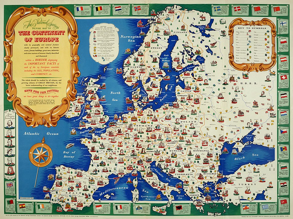 Map of Europe, 1946 (25289557032)
