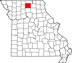 map of Missouri highlighting Sullivan County