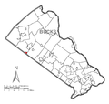 Map of Telford, Bucks County, Pennsylvania Highlighted.png