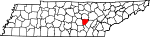State map highlighting Van Buren County