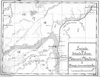 Madeira-Mamoré Railroad - Map of the Madeira-Mamoré Railroad