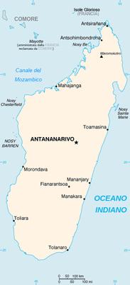 Madagascar - Mappa
