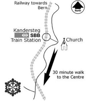 Kandersteg International Scout Centre - Map to KISC