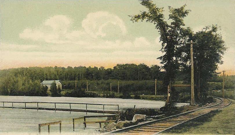Maranacook Lake from Green Street, Winthrop, ME
