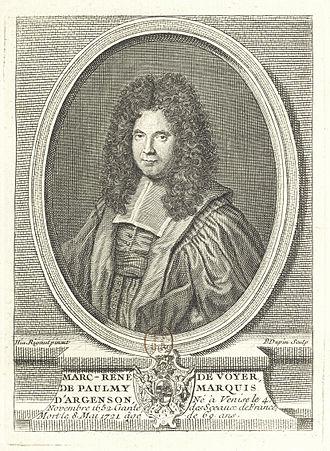 Marc-René de Voyer de Paulmy d'Argenson (1652–1721) - Image: Marc René de Voyer de Paulmy d'Argenson Gallica