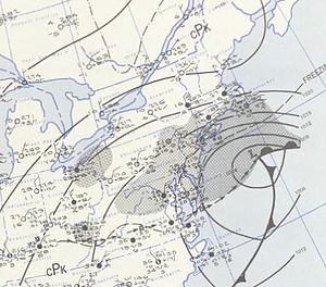 March 18–20, 1956 nor'easter - A surface weather analysis of the nor'easter