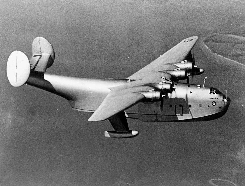 Martin XPB2M-1 Mars in flight 1942.jpeg