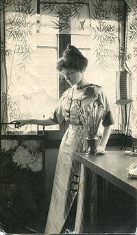 Mary Agnes Yerkes, Mary Agnes in her studio.jpg