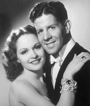 Second Fiddle (1939 film) - Mary Healy and Rudy Vallee in Second Fiddle