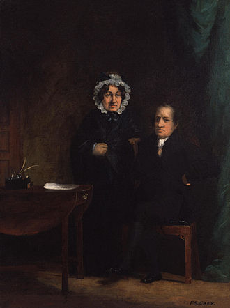 Mary Lamb - Portrait of Mary with her brother Charles by Francis Stephen Cary, 1834