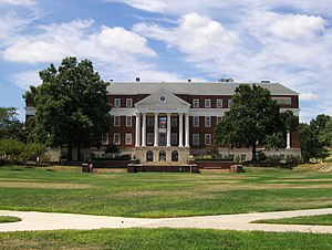 McKeldin Mall - A view of McKeldin Library.