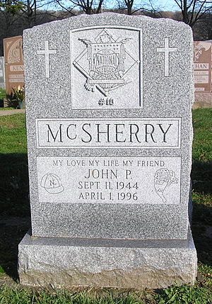 John McSherry - The headstone of McSherry in Gate of Heaven Cemetery