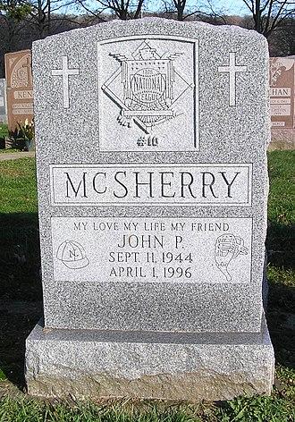 John McSherry - The headstone of McSherry in Gate of Heaven Cemetery