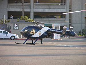 MD500N helicopter of the Huntington Beach (Cal...