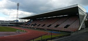 Meadowbank Stadium - Image: Meadowbank Stadium stand