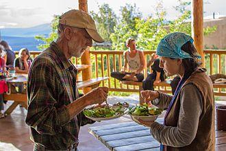 Lama Foundation - Sharing a meal at Lama.