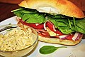 Meat and cheese sandwich with spinach.jpg