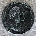 Medaglione di commodo, 192 dc, recto con commodo e la dea roma, bronzo e oricalco.JPG