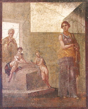 Timomachus - Fresco from the Casa dei Dioscuri, believed to exhibit Timomachus' influence