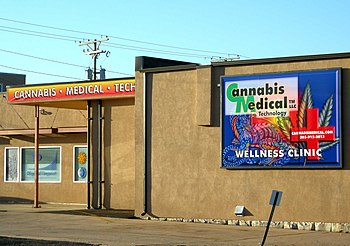 English: Legal medical marijuana clinic, Canna...