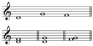 Interval (music) - Image: Melodic and harmonic intervals