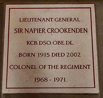 Napier Crookenden - Memorial to Napier Crookenden in Chester Cathedral