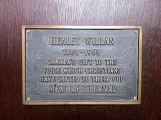 Healey Willan - Memorial to Healey Willan