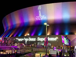Mercedes-Benz Superdome tijdens de Super Bowl XLVII