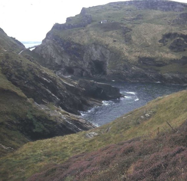 File:Merlin's Cave viewed from Barras Nose - geograph.org.uk - 481244.jpg