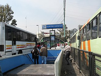 Metro Cuatro Caminos - Entrance to station from local bus terminal